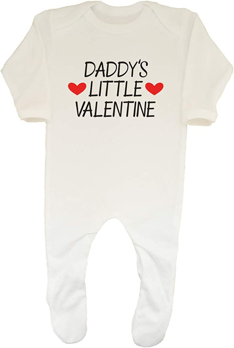 Shopagift Daddys Little Valentine Boys Girls Baby Sleepsuit Romper
