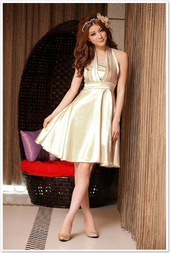 Hot Verkauf Cocktail Ball Kleid Abendkleid Hochzeit Kleid Noble Put auf einem großen Schal Kleid champagnerfarben stuZnk7lX