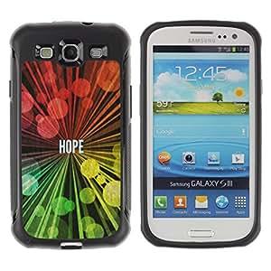 LASTONE PHONE CASE / Suave Silicona Caso Carcasa de Caucho Funda para Samsung Galaxy S3 I9300 / BIBLE Hope