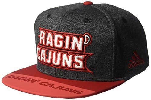 - adidas NCAA Louisiana Lafayette Ragin' Cajuns Adult Men Player Flat Brim Snapback, One Size, Black