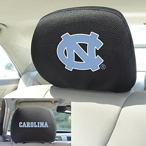 FANMATS  12609  NCAA UNC University of North Carolina - Chapel Hill Tar Heels Polyester Head Rest Cover