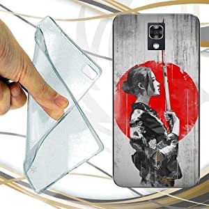 CUSTODIA COVER CASE GEISHA KATANA PER LG X SCREEN