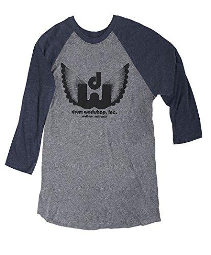 DRUM WORKSHOP PR25LSWING- DW Long Sleeve Wing Shirt- Size Large (Shirt Workshop Drum)