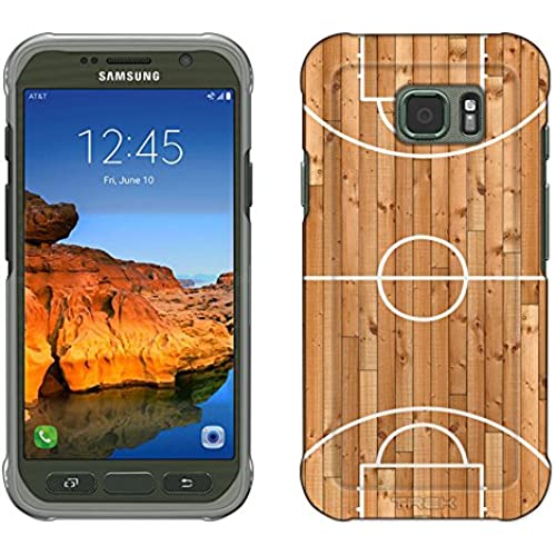 Samsung Galaxy S7 Active Case, Snap On Cover by Trek Basketball Court Slim Case Sales