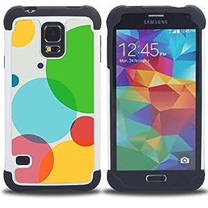 - Color Bubbles/ H??brido 3in1 Deluxe Impreso duro Soft Alto Impacto caja de la armadura Defender - SHIMIN CAO - For Samsung Galaxy S5 I9600 G9009 G9008V