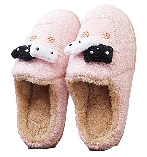 Ciabatte Da Donna Inverno Orso Ciabattine Pantofole Da Pavimento Pantofole Calde Rosa