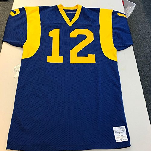 Rare 1977 Joe Namath Game Used Los Angeles Rams Authentic Sand-Knit Jersey - Unsigned NFL Game Used Jerseys
