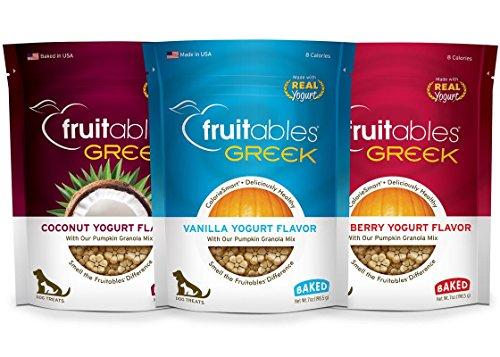 Fruitables Pumpkin Dog Treats, Greek Yogurt Variety Pack Review