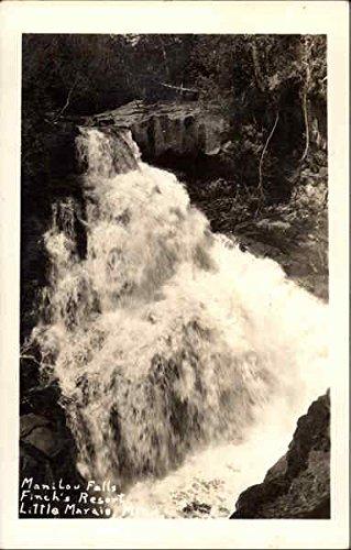 Manitou Falls - Finch's Resort Little Marais, Minnesota Original Vintage Postcard