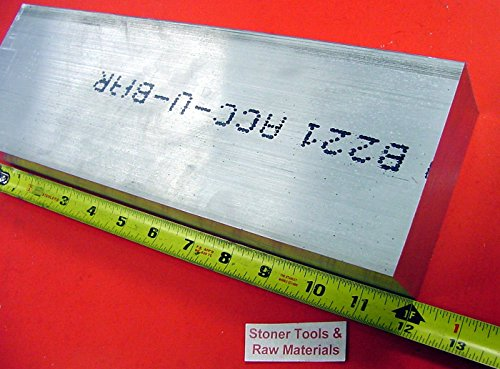 3 Pieces 2'' X 4'' ALUMINUM 6061 FLAT BAR 12'' long Solid 2.000'' T6 New Mill Stock by Stoner Metals