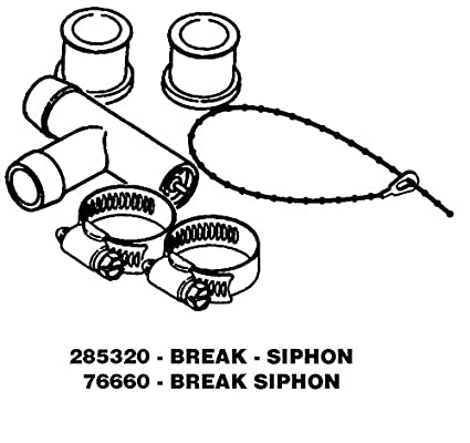 Whirlpool 76660 Washer Siphon Break Genuine Original Equipment Manufacturer  (OEM) Part for Kenmore