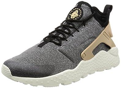 nike air huarache ultra sneakers in grey and tan