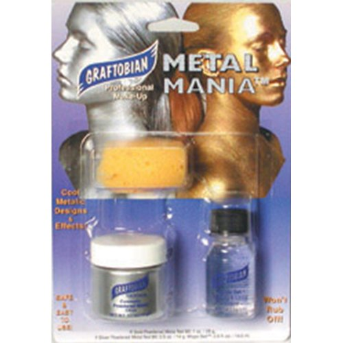 - Graftobian Metal Mania Kit - Silver 1 Ounce