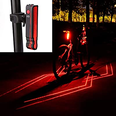 Bike TailLight Ultra Bright Cycling LED Light Bicycle Rear Lamp USB Rechargeable