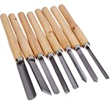 Newest 8PCs Wood Carving Knife Lathe Chisel Set Turning Tools Woodworking Gouge Skew Parting Spear