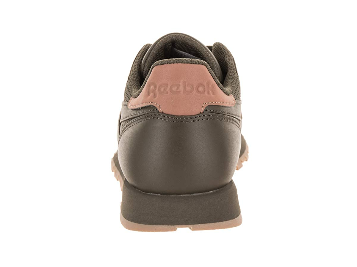 3dedb52c99fd9c Reebok Men s CL Leather RM Fashion Sneakers Army Green Rose Gold Gum   Amazon.co.uk  Shoes   Bags