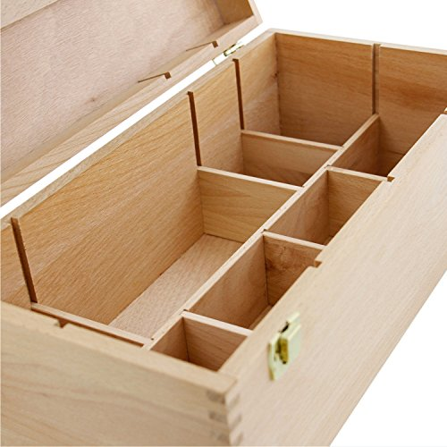 Us Art Supply Artist Wood Pastel Pen Marker Storage Box