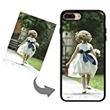 Customize Your Own Phone Case - Personalized Photo/Text/Logo Back Cover Case for IPhone 7 Plus/8 Plus,Birthday/Xmas/Valentines Gift for Her and Him