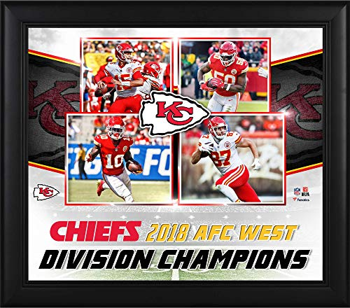"Kansas City Chiefs Framed 15"" x 17"" 2018 AFC West Division Champions Collage - NFL Team Plaques and Collages"