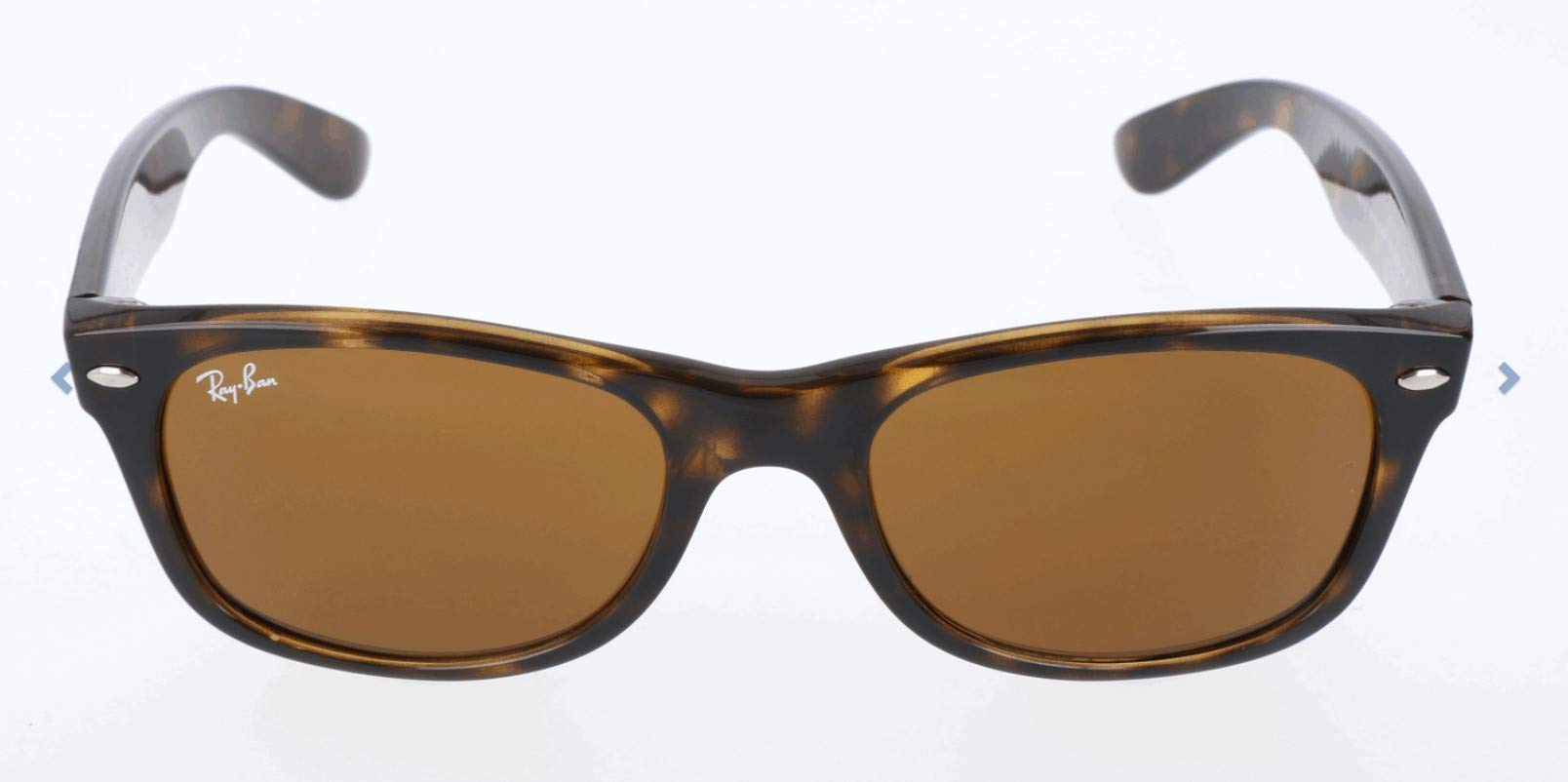 RAY-BAN RB2132 New Wayfarer Sunglasses, Light Havana/Brown, 55 mm by RAY-BAN