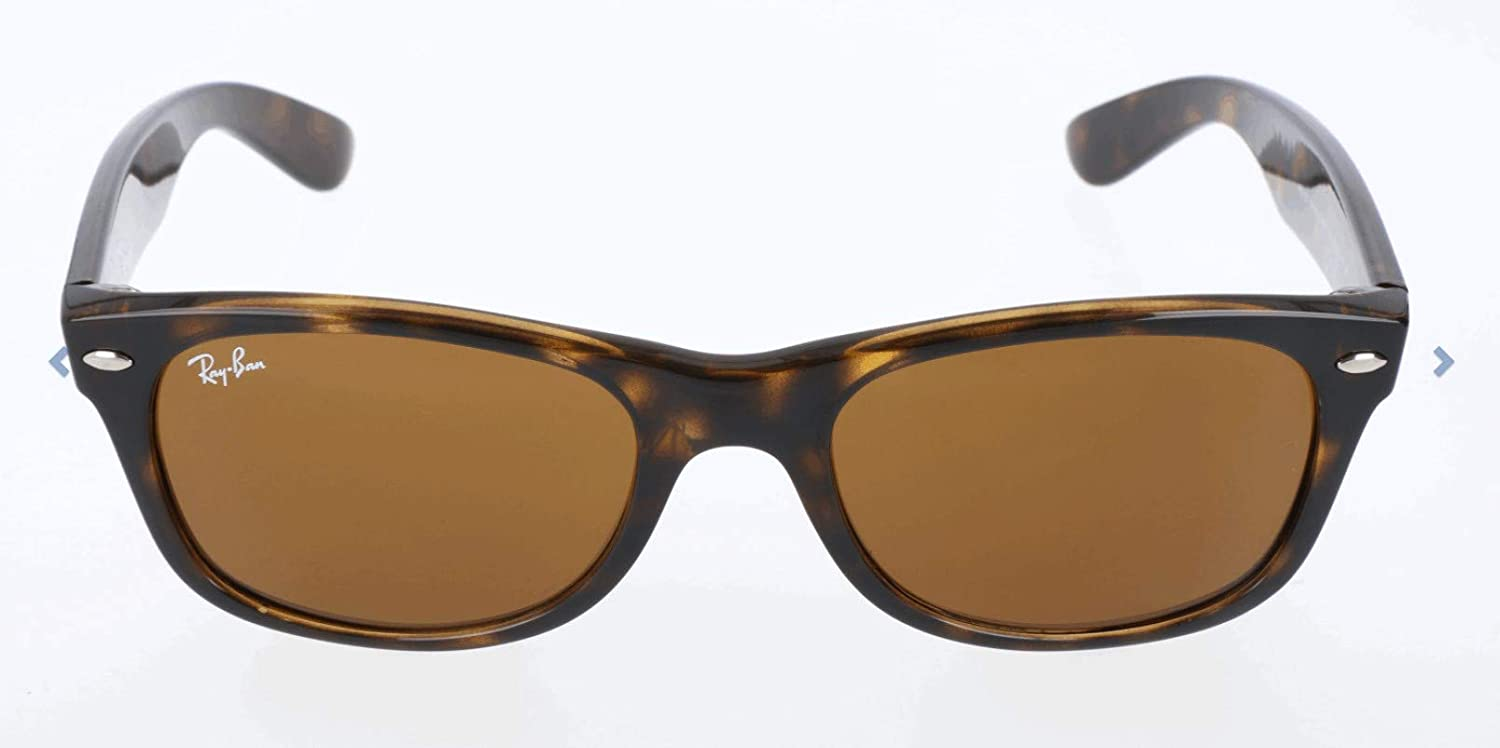 Ray-Ban New Wayfarer - Gafas de sol unisex, color marrón (havana), talla 52 mm