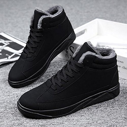 Men's Shoes Feifei Winter Keep Warm High To Help Plate Shoes 3 Colors (Size Multiple Choice) (Color : Black, Size : EU39/UK6.5/CN40)