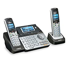 VTech DS6151-2 2 Handset 2-Line Cordless Phone System for Home or Small Business with Digital Answering System & Mailbox on Each line, Silver