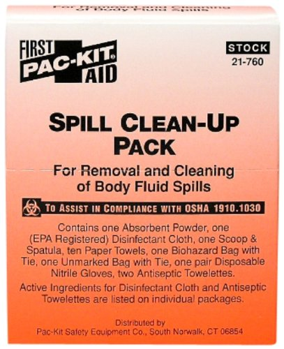 Body Fluid Spill Clean Up Pack from Pac Kit (1 / Bx) 24 Box Per Case by Acme United Corp - MS89276 by Pac-Kit