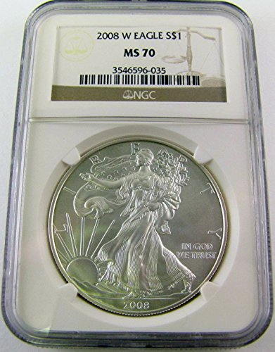 2008 W Silver Eagle $1 MS70 NGC
