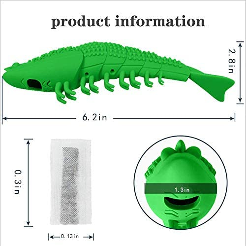 GCXSBF cat Toy pet Toothbrush Cleaning Toy cat New Interactive Mint Flavor Silicone Crayfish Shape pet Toy 4