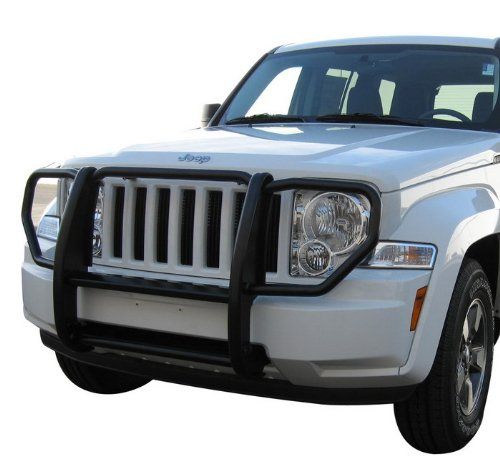 MaxMate Premium Custom Fit 2008-2011 Jeep Liberty Grille Saver Bumper Brush Guard Black