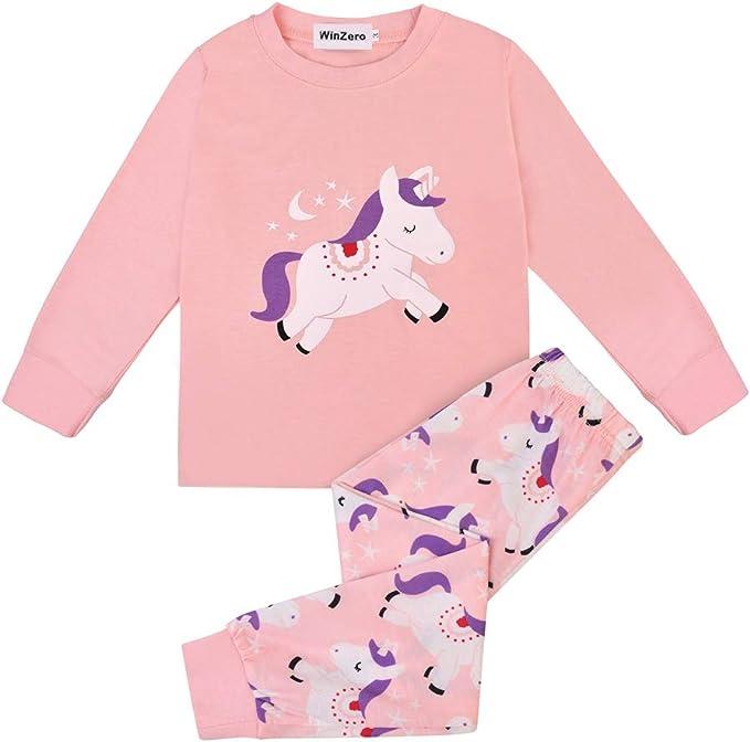 Pijama de Manga Larga para niñas, 100% algodón, Pijama de Pijama ...