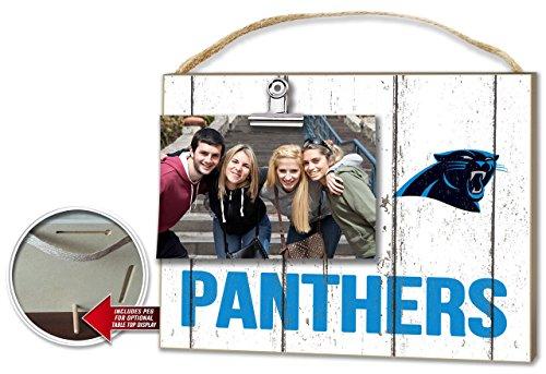 KH Sports Carolina Panthers Weathered Clip-It Photo Frame