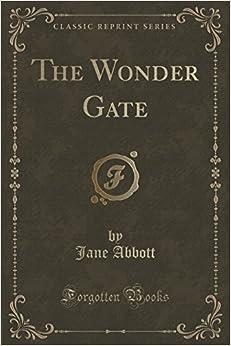 Book The Wonder Gate (Classic Reprint) by Jane Abbott (2015-09-27)