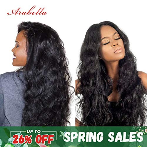 360 Lace Frontal Human Hair Wigs 20inch 360 Lace Frontal Wigs Pre Plucked with Baby Hair Body Wave Human Hair Wig Natural Color 150% ()