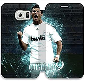 Elegant Printing Cool Cristiano Ronaldo Images Wallpapers-15 iPhone Samsung Galaxy S6 Edge Leather Flip Case