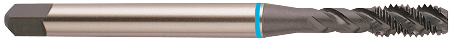 YG-1 BK Series Super HSS Spiral Flute Tap 1-12 Thread Size Round Shank with Square End Modified Bottoming Chamfer H6 Tolerance Hardslick Coated