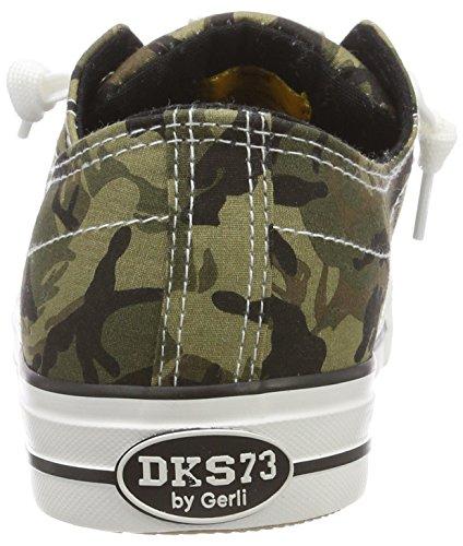 Dockers by Gerli Herren 38AY636-700480 Sneaker Grün (Camouflage 480)