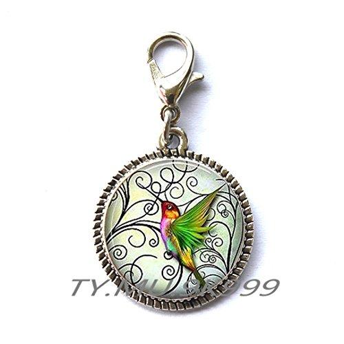 Hummingbird Zipper Pull - Hummingbird Lover Gift - Tropical Bird Jewelry - Hummingbirds Zipper Pull -Bird Jewelry.Y245 (2)