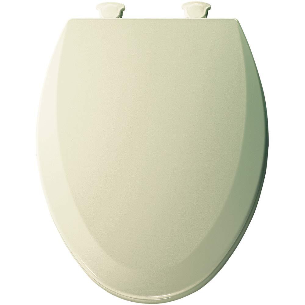 Terrific Bemis 1500Ec 146 Toilet Seat With Easy Clean Change Hinges Elongated Durable Enameled Wood Almond Machost Co Dining Chair Design Ideas Machostcouk