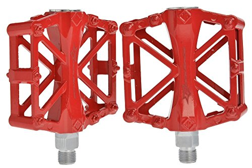 Rockbros Cycling Mountain Bike Pedals Dh Downhill Aluminum Pedals-core 9/16 Red