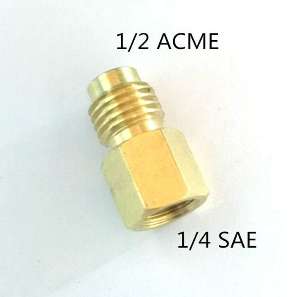 ningxiao586 R134A Adaptateur de r/éservoir de Fluide frigorig/ène /à ladaptateur de Fixation R12 1//2 Femelle Acme au 1//4 m/âle Adaptateur de Valve Flare Core Pompe /à Vide Outil de climatisation 4PCS