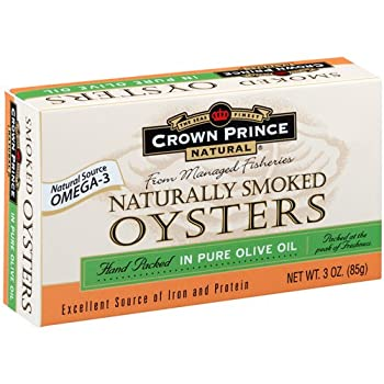 Crown Prince Natural Oysters In Pure Olive Oil