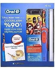 Oral-B Çocuklar İçin Şarj Edilebilir Diş Fırçası Incredibles Özel Seri Kitap Hediyeli