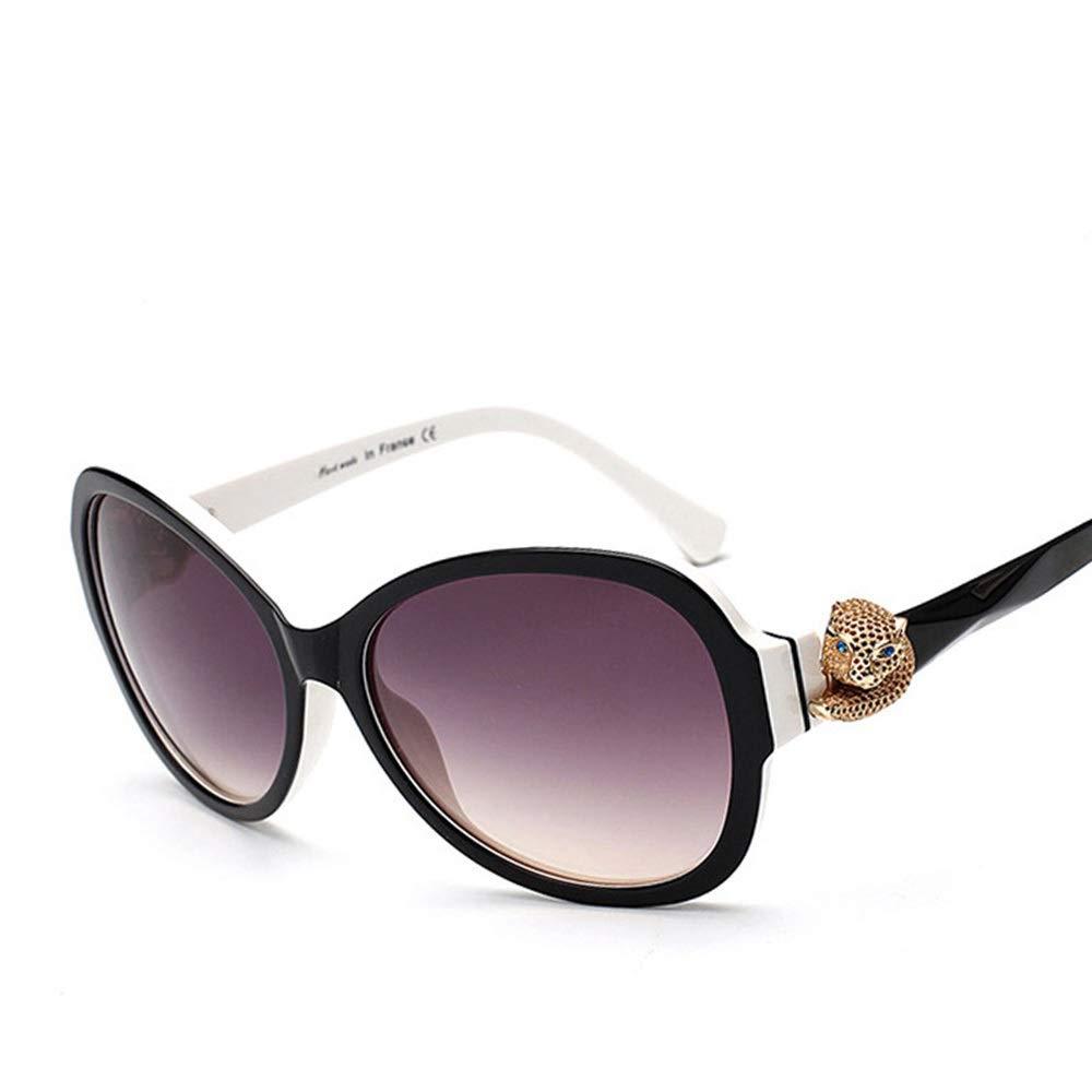 Black white Saalising Women's Classic Highend Sunglasses, Polarized Sunglasses, Fashion Decorative (color   Black)