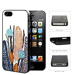 Native Feathers And Leaves Hard Plastic Snap On Cell Phone Case Apple iPhone 4 4s