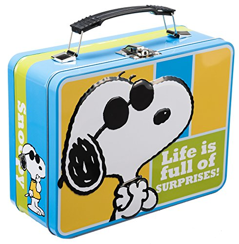Vandor Peanuts Large Tin Tote (85070) (Peanuts Lunch Box)