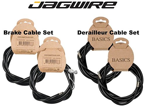 Jagwire Complete Cable Kit, Brake Shifter Cable Housing Set, Shimano / SRAM, Road / Mountain by Jagwire