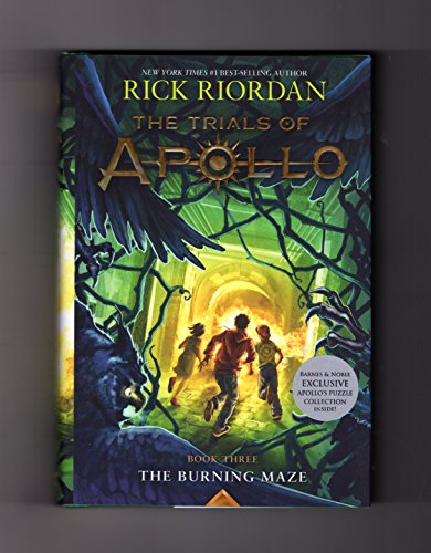 The Burning Maze  The Trials Of Apollo  Book 3  Exclusive Edition  Isbn 9781368024068   With  Apollos Puzzle Collection  Insert Tipped In  First Edition  First Printing
