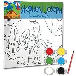 Stephen Joseph Dinosaur Craft Canvas Set